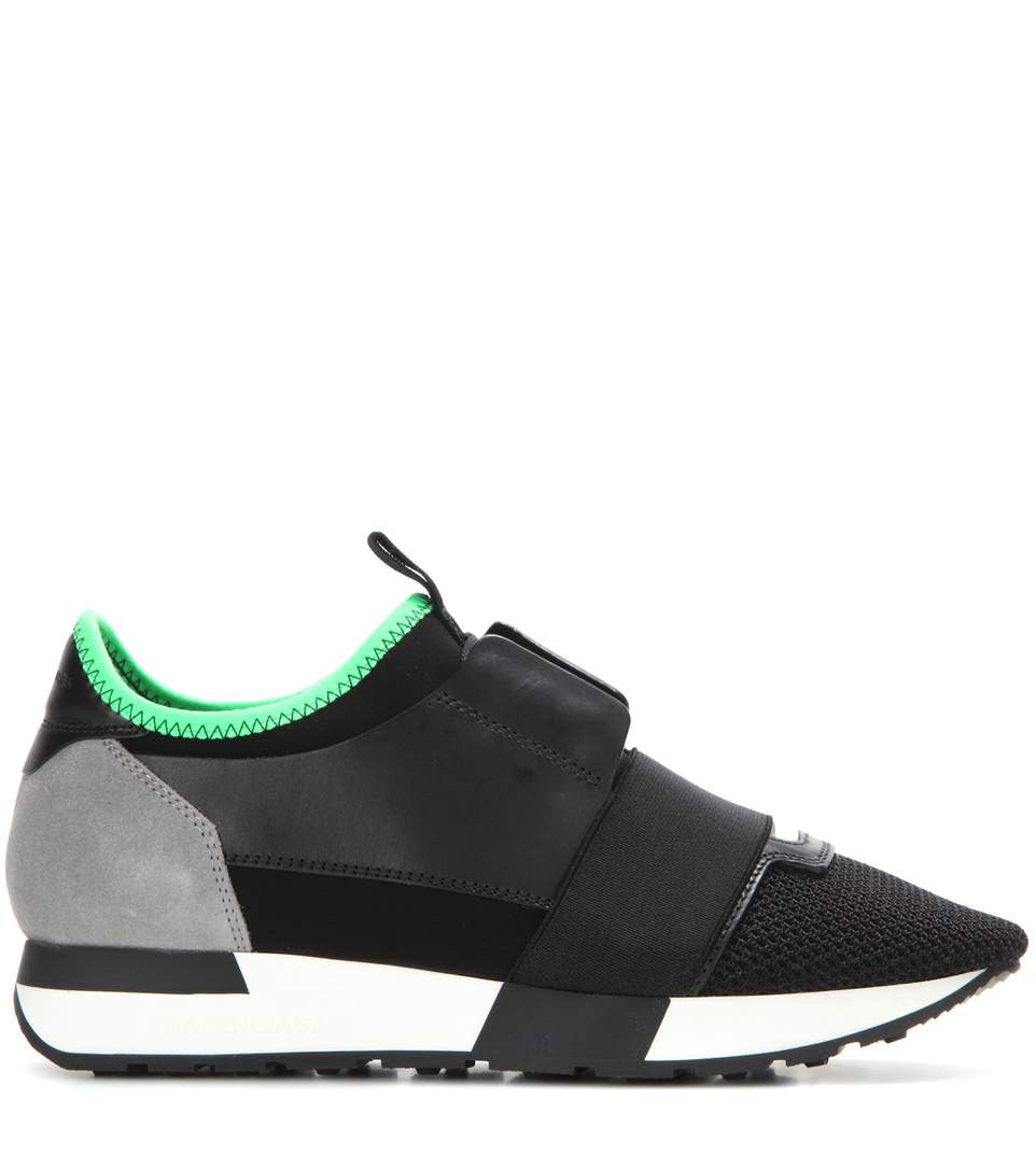 My Theresa Balenciaga Race Runner leather and fabric sneakers