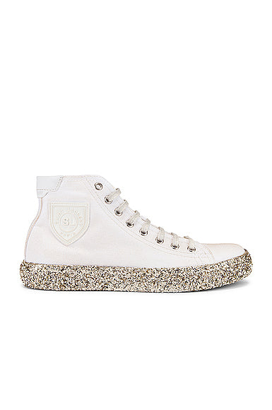 Saint Laurent Bedford Gold Sole High Top Sneakers