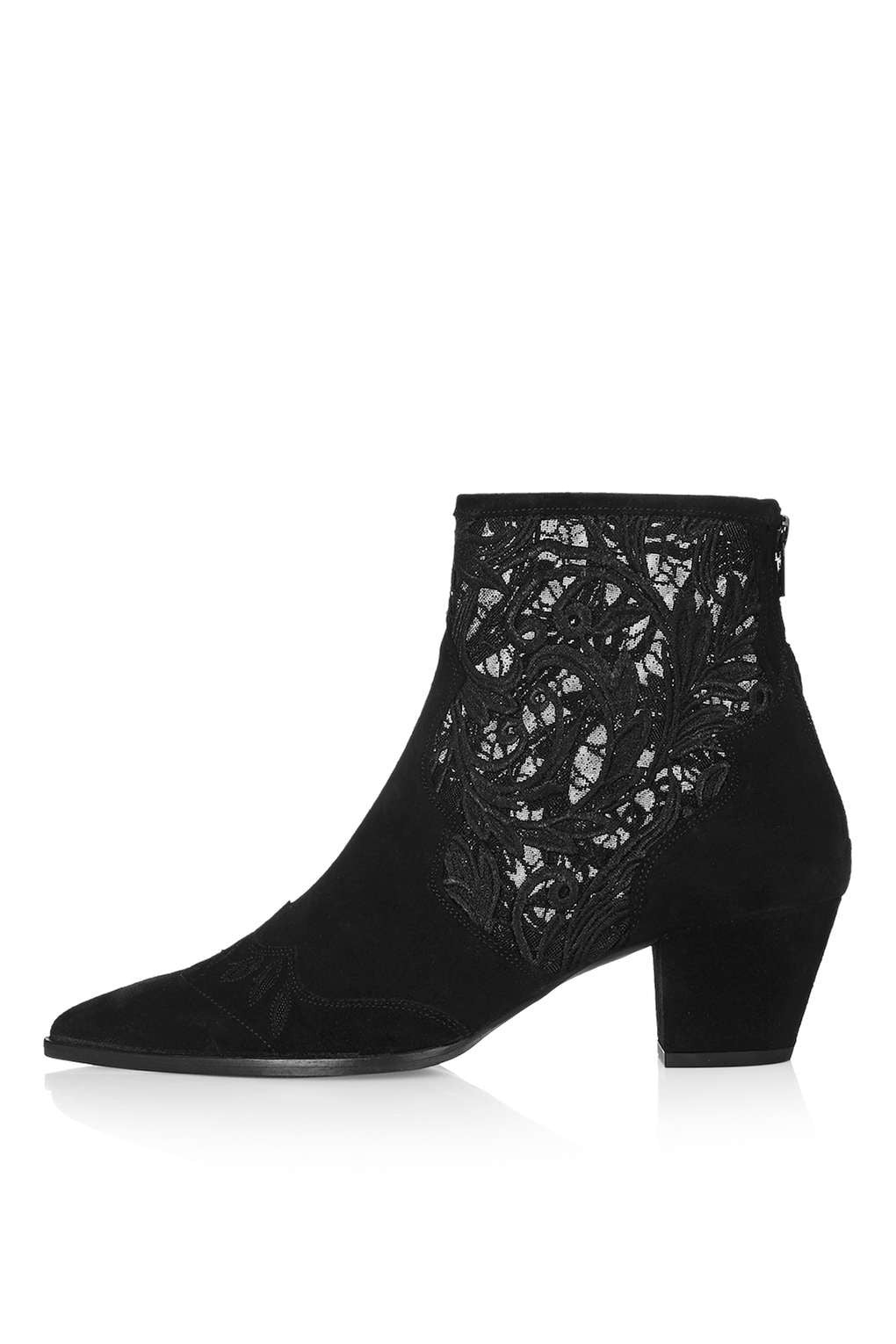 TopShop Alegra-Lace-Ankle-Boot