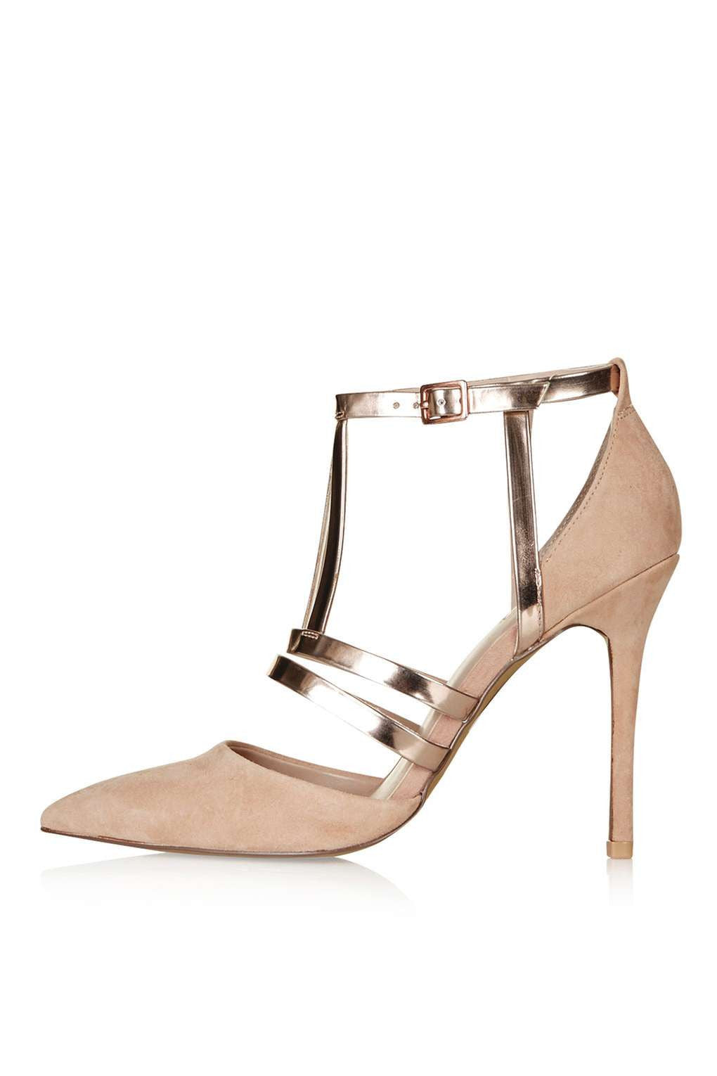 TopShop GENEVA Nude Court Shoes