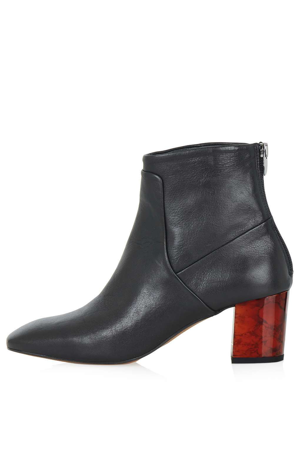 TopShop MISTIC Leather Ankle Boots
