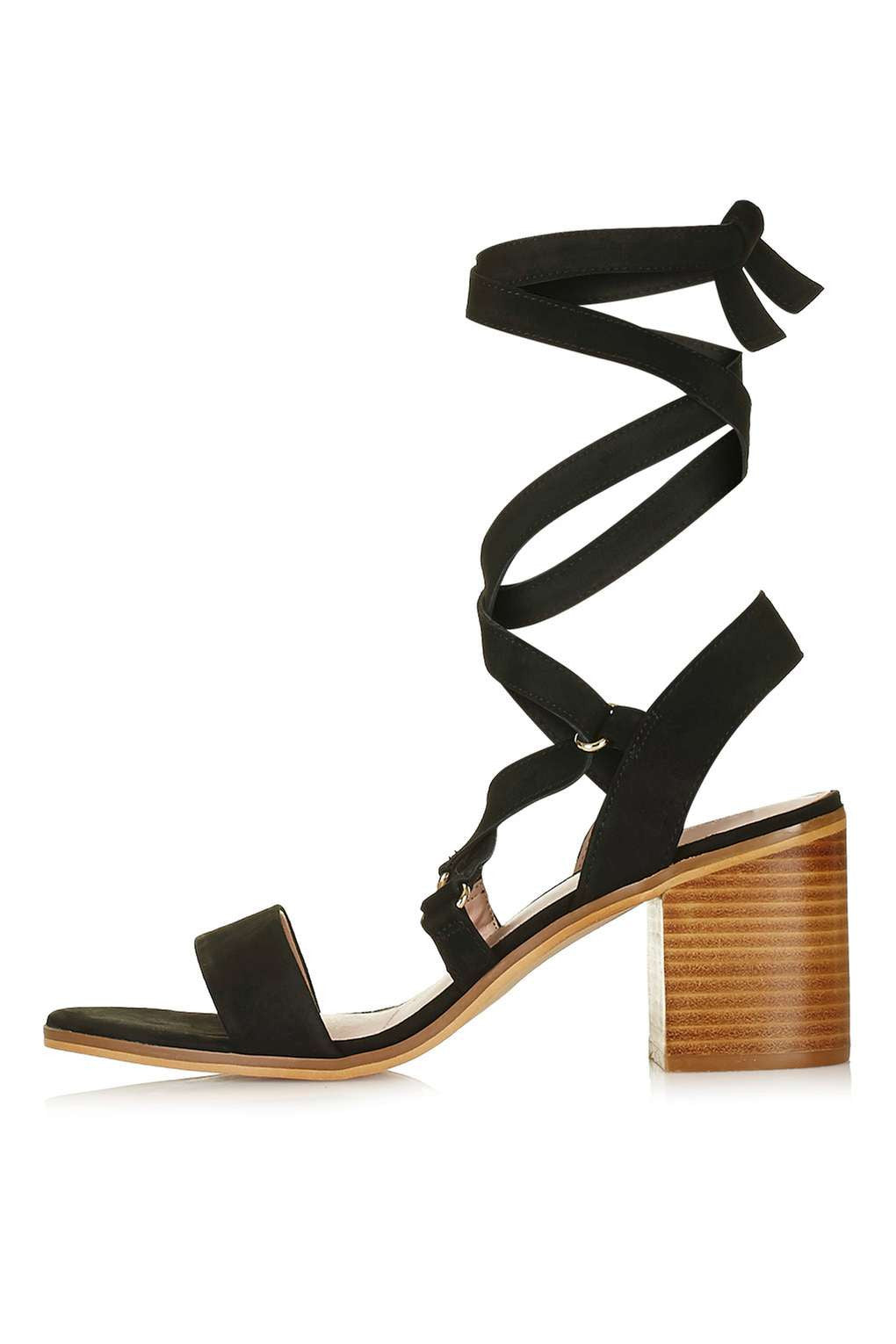 TopShop NARDA Ankle-Tie Mid Sandals