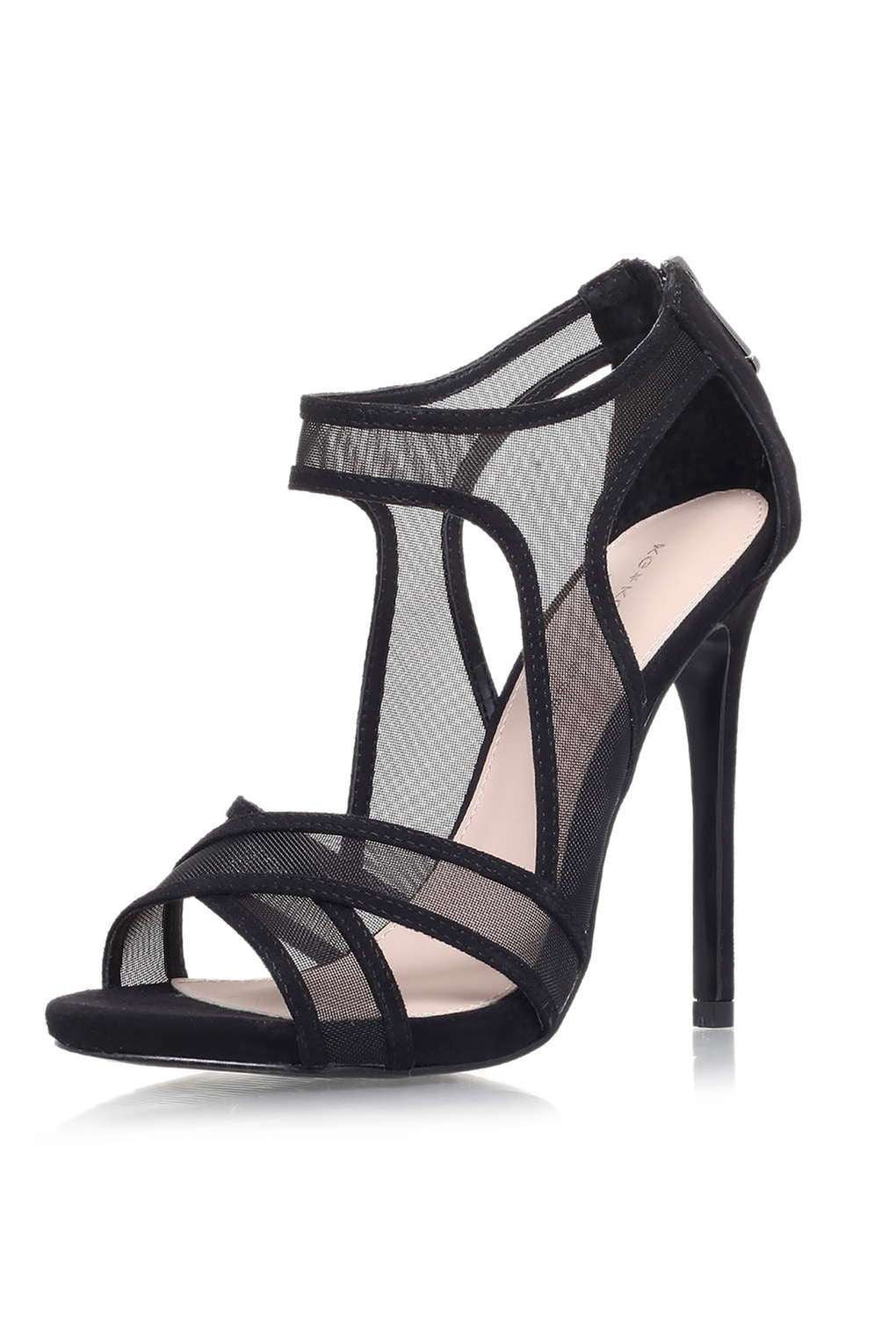 TopShop Black High Heel Sandals by KG Kurt Geiger