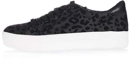 Topshop Crystal flatform lace up trainers