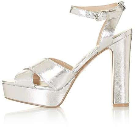 Topshop Mabel cross strap platform sandals