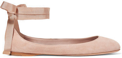 AERIN Suede Ballet Flats - Taupe