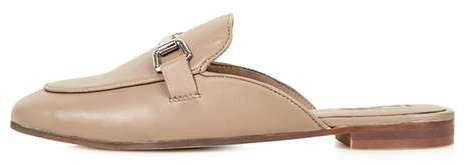 Topshop Kylie backless buckle loafer