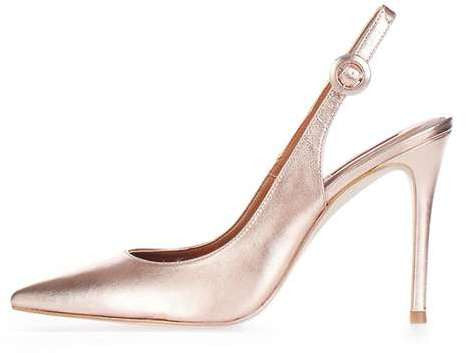 Topshop Goldy slingback shoes