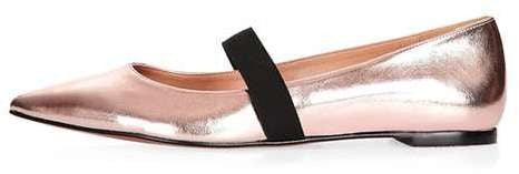 Topshop Ashley pointed elastic shoe