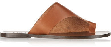 NET-A-PORTER.COM ATP Atelier - Rosa Cutout Leather Slides - Camel