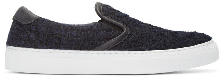 Diemme Navy Tweed Garda Slip-On Sneakers