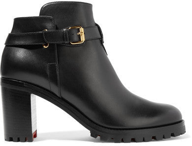 Christian Louboutin Communa 70 Leather Ankle Boots - Black