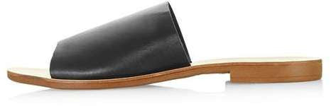 Topshop Hour leather mules