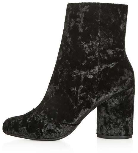 Topshop Harry velvet ankle boots