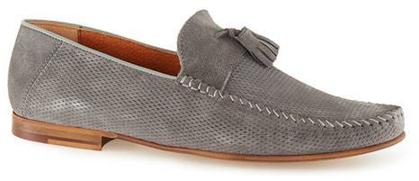 Topman Grey Suede Tassel Loafers