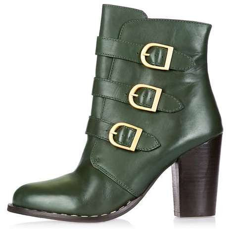 Topshop Horoscope three buckle boots