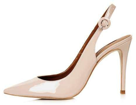 Topshop Goldy slingback court shoes