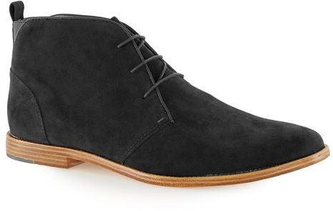 Topman Black Faux Suede Chukka Boots