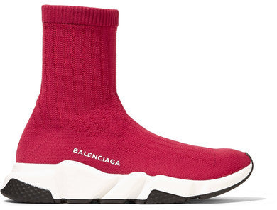 Balenciaga Speed Stretch-knit High-top Sneakers - Red