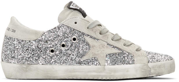 SSENSE Exclusive Silver Glitter Superstar Sneakers