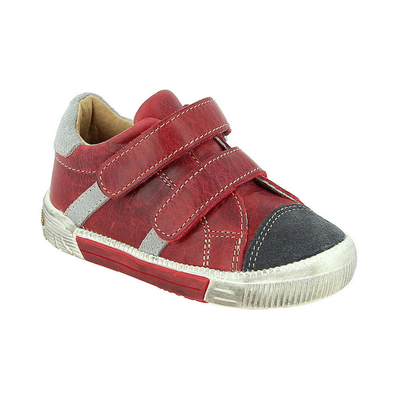 27096b092c9d Mini Rappy Red Leather Trainer - Ryker Kids Shoes