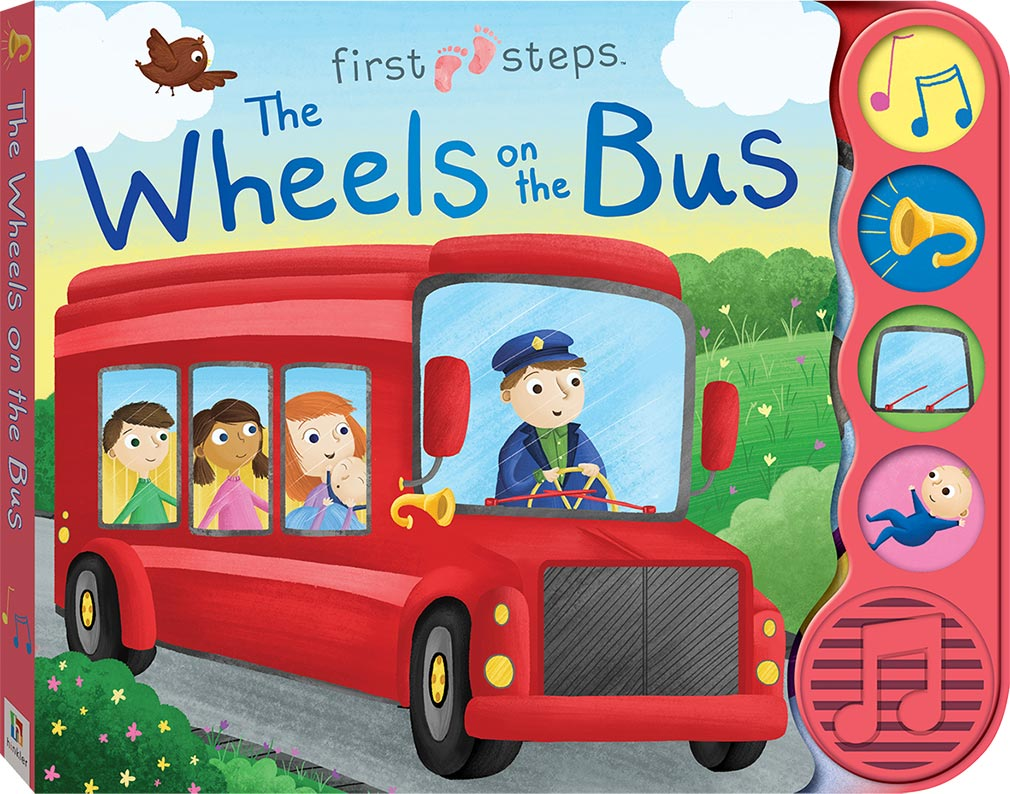 Wheels On The Bus - First Steps 4 Sound Book - owlreadersclub