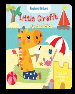 Little Giraffe at the beach - owlreadersclub