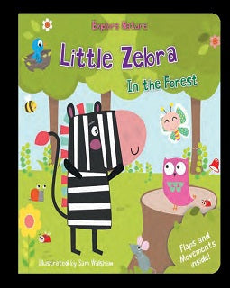 Little Zebra in the forest - owlreadersclub