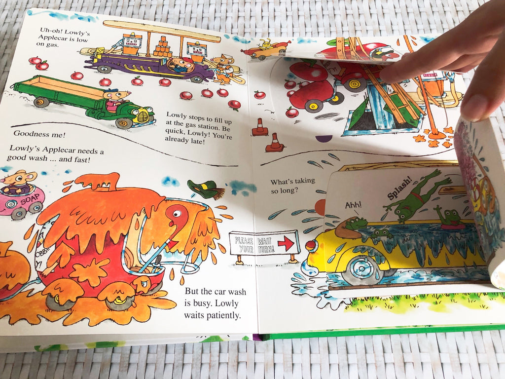 Lowly Worm's Applecar Lift-The-Flap Book - owlreadersclub