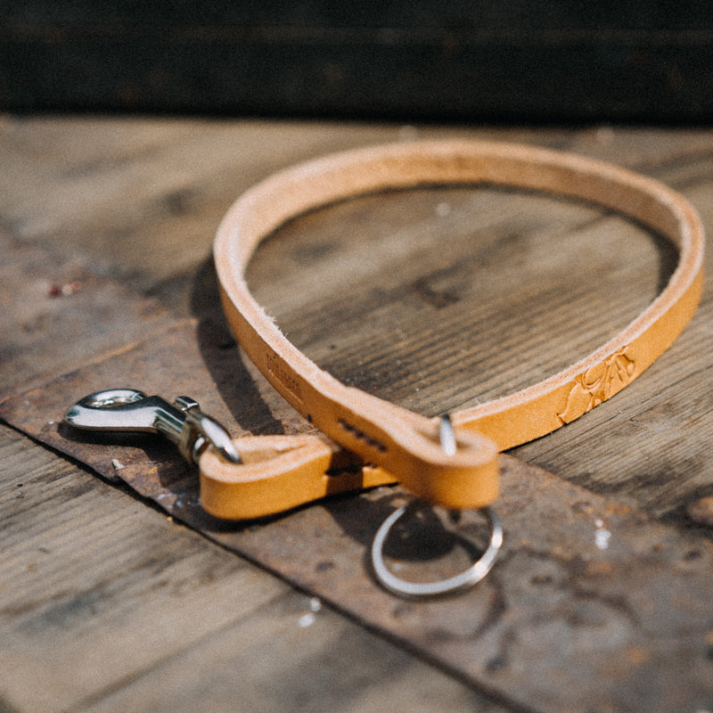 Leather Biker Lanyard