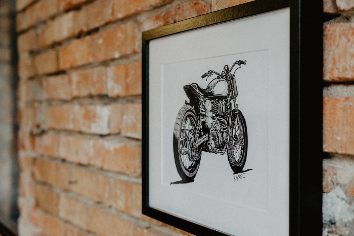 Harley Davidson Ink Black & White