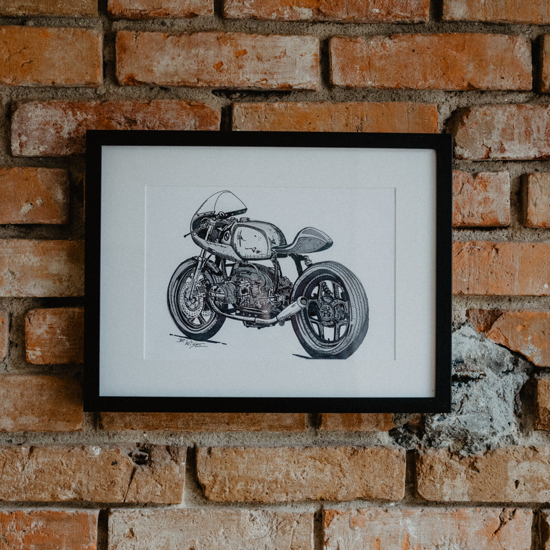 BMW r100 Ink Black & White