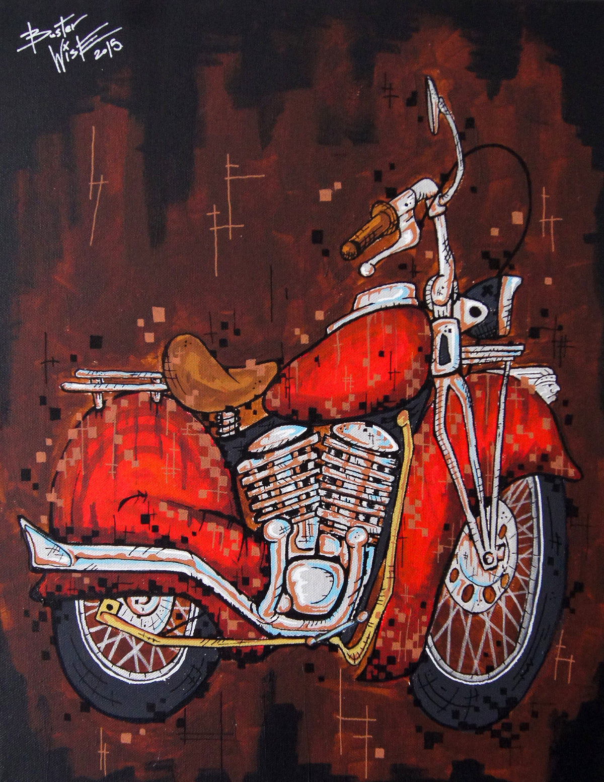 Indian Motorcycle Painting