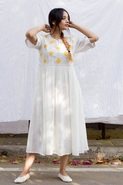 Yellow Mallow Dress - shopraiman