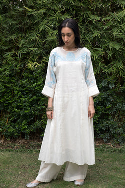 Kora- Powder Blue Kali Kurta
