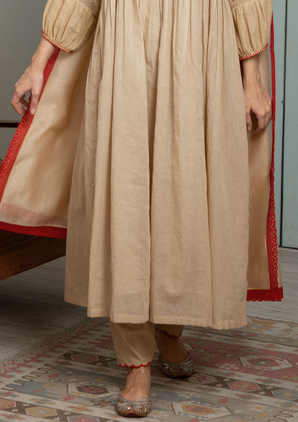 Beige Narrow Salwar Pants