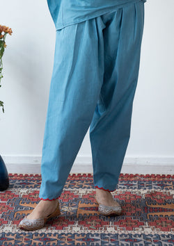Blue Narrow Salwar Pants
