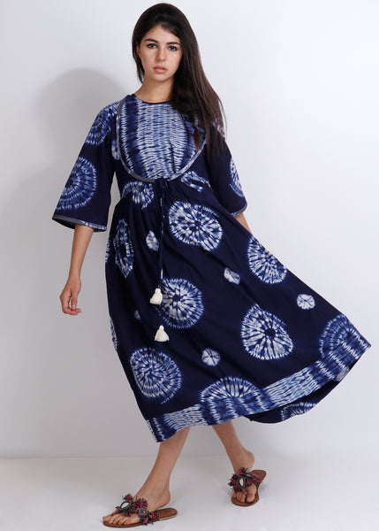 Shibori Magnolia Dress