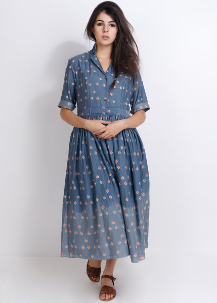 Grey Bandhej Banjara Dress - shopraiman