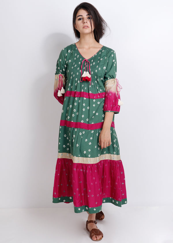 Bandhej Rangrez Dress - shopraiman