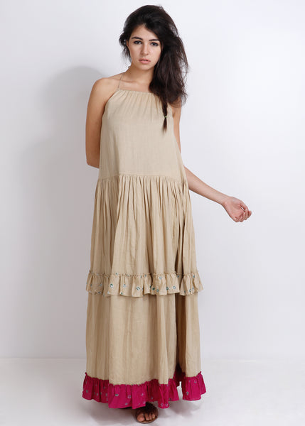 Beige Barmer Dress - shopraiman