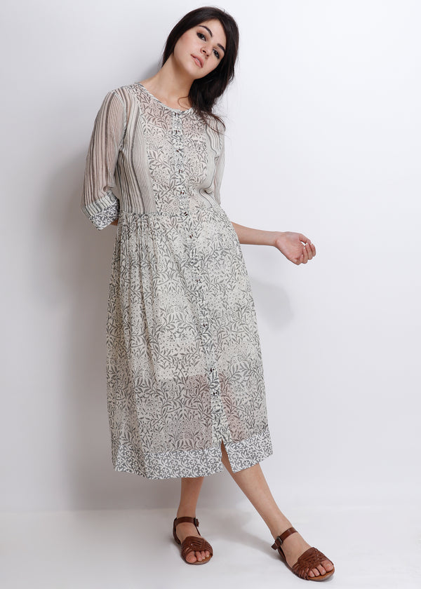 Grey Carnation Peshi Dress - shopraiman