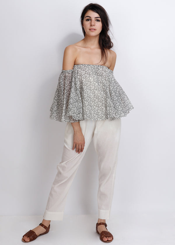 Lilac Off Shoulder Top - shopraiman