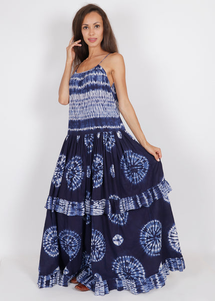 Shibori Barmer Dress - shopraiman