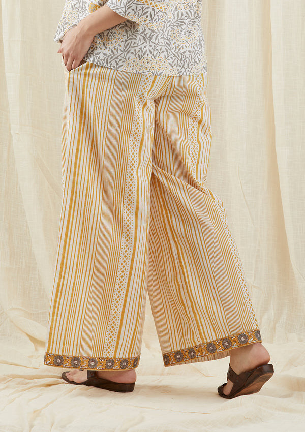 Mustard Stripe Box Pants
