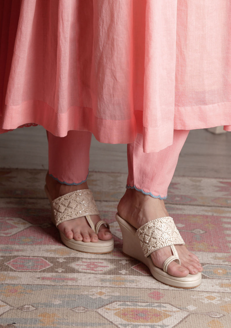 Pink Narrow Salwar Pants