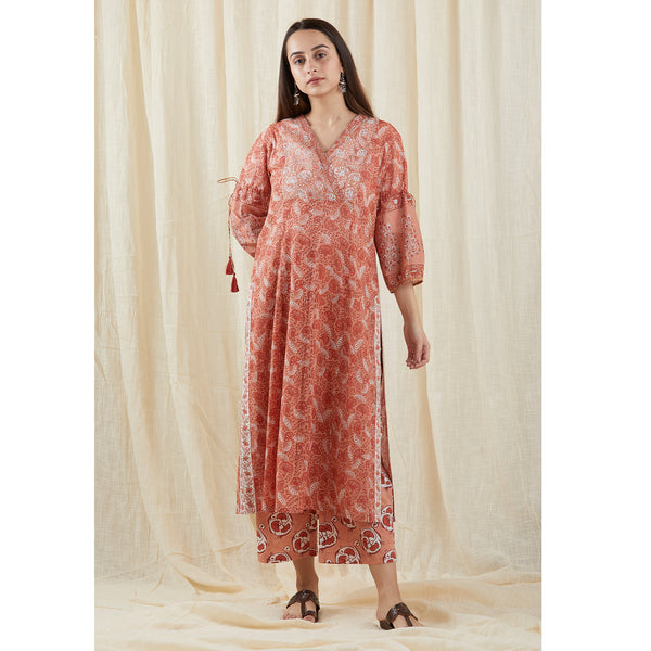 Peach Peasant Yolk Tunic