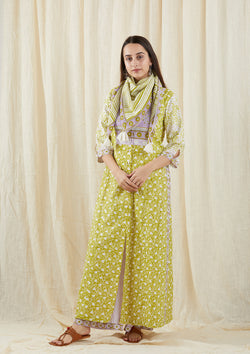 Green Chinar Mul Kurta