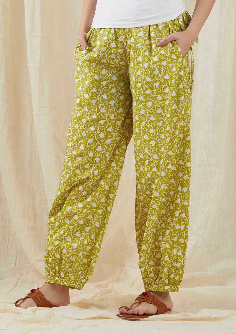 Green Chinar Pants