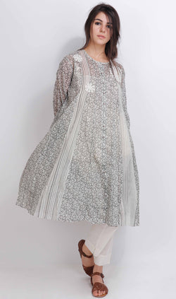 Grey Lilac Kali Tunic - shopraiman